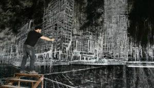 © Christian Leperino, Cityscape8, 2010, acrilico su pvc, 157x240 cm